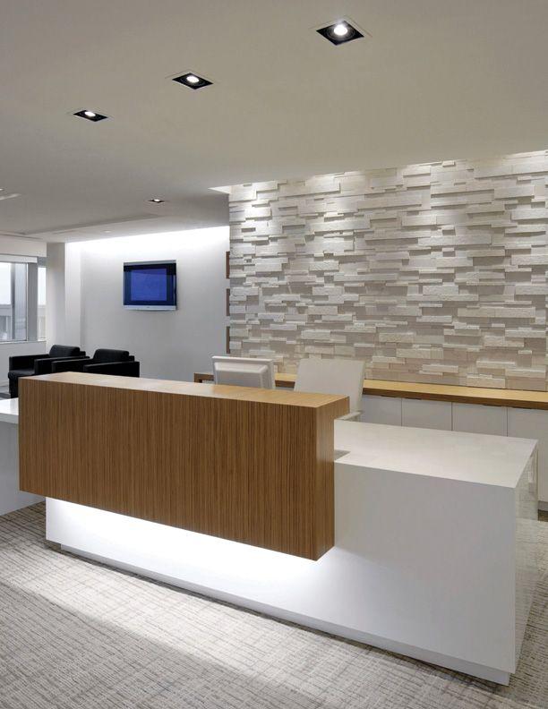 beautiful reception desk. #valaistus #valaistussuunnittelu #epäsuoravalo Toteutus mahdollisuuksia: www.cioy.fi                                                                                                                                                      More