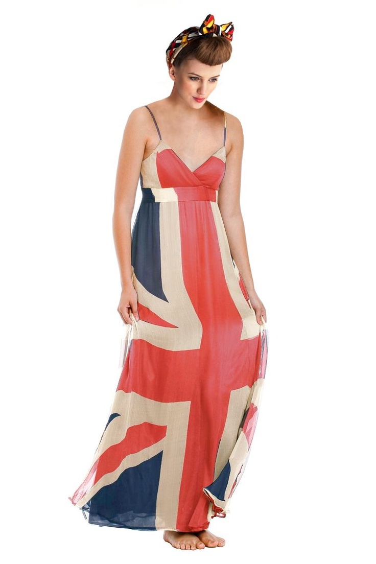 Geri union jack maxi dress