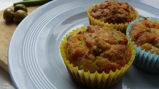Savoury feta and thyme muffins
