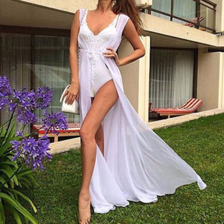 Dora bridal womens sexy crochet hollow out cover-ups beachwear swimwear dress