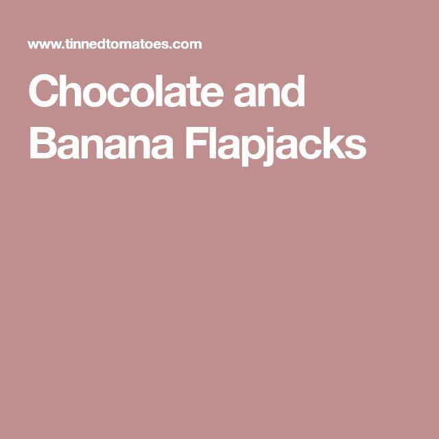 Chocolate and Banana Flapjacks