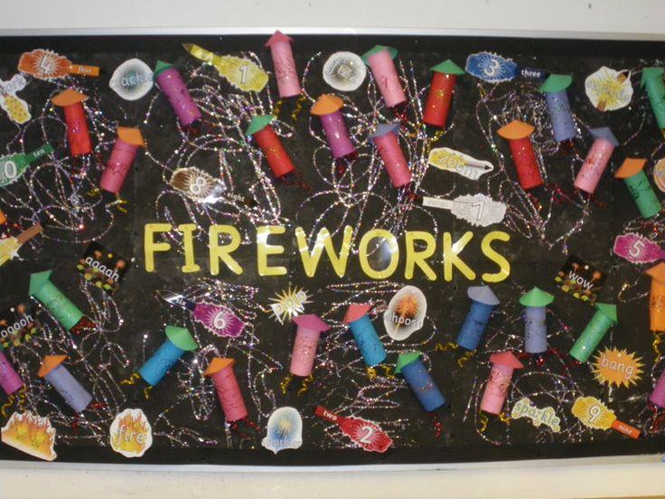 Firework Display, Classroom Display, class display, firework, bonfire, rocket, sparkler, 5th November, fire,Early Years (EYFS), KS1 & KS2 Primary Resources