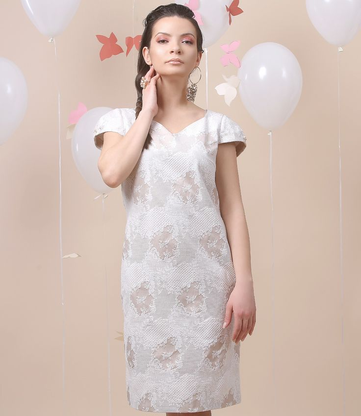 Elegant touch of PERLA dress… Spring17 | YOKKO #beige #dress #white #cotton #party #spring17 #fashion #yokko