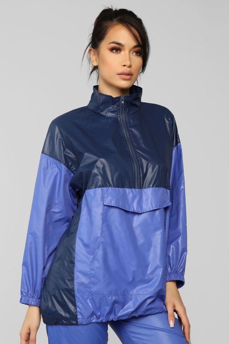 For The Hype Windbreaker Jacket – Blue/Multi