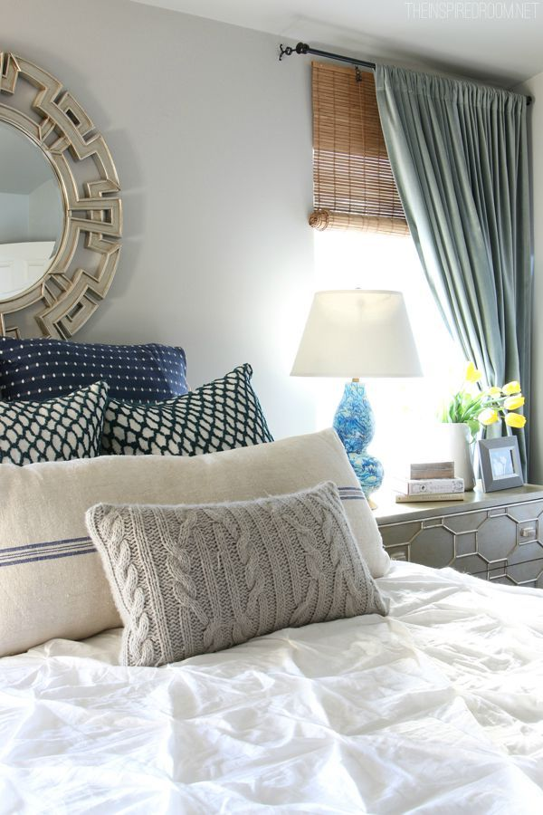 One lovely way to add style and warmth to your bedroom is through a layered bed. A mix of patterns, colors, and textures will create a look that is a bit less fussy or predictable than a full matching bed set, without sacrificing luxurious style. Come see my favorite tips for creating a cozy layered bed!