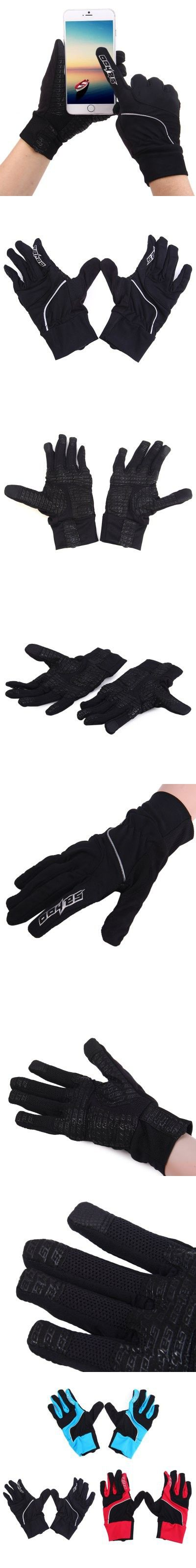 Cycling Gloves | 1 Pair SAHOO Touch Screen Full Finger Gloves $11.90