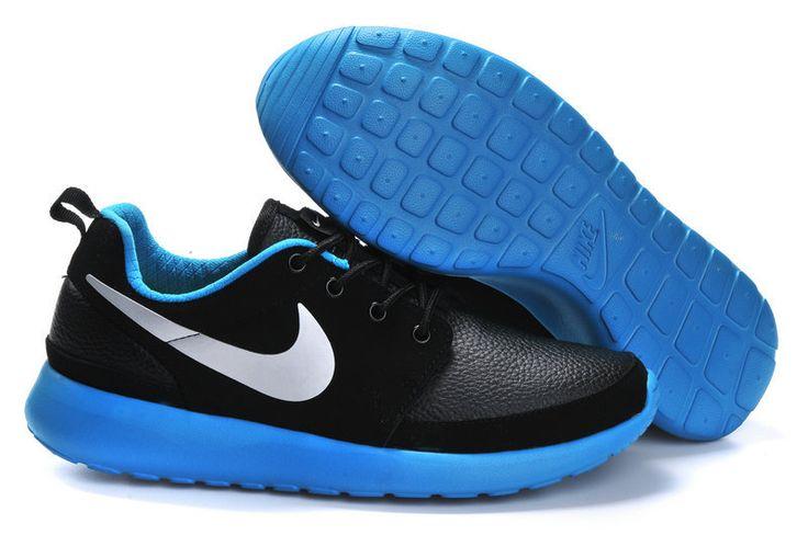 2014 nike roshe run black blue white men running shoes $89.99 free shipping fee