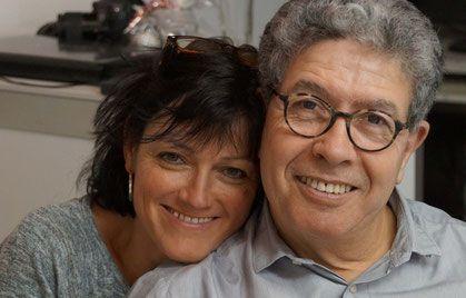 Der Künstler  Nicola Quici und Frau Susanne Quici-Isele