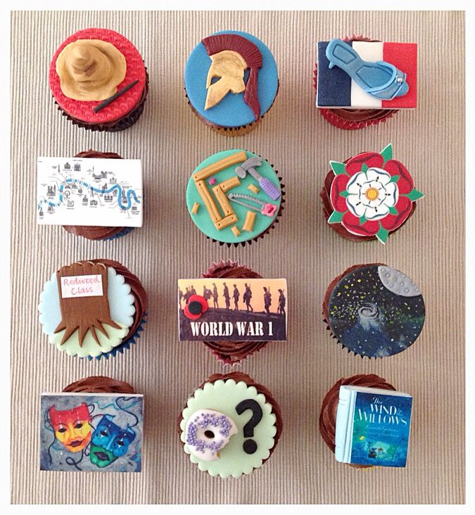 End of year school topic cupcakes (Year 5)