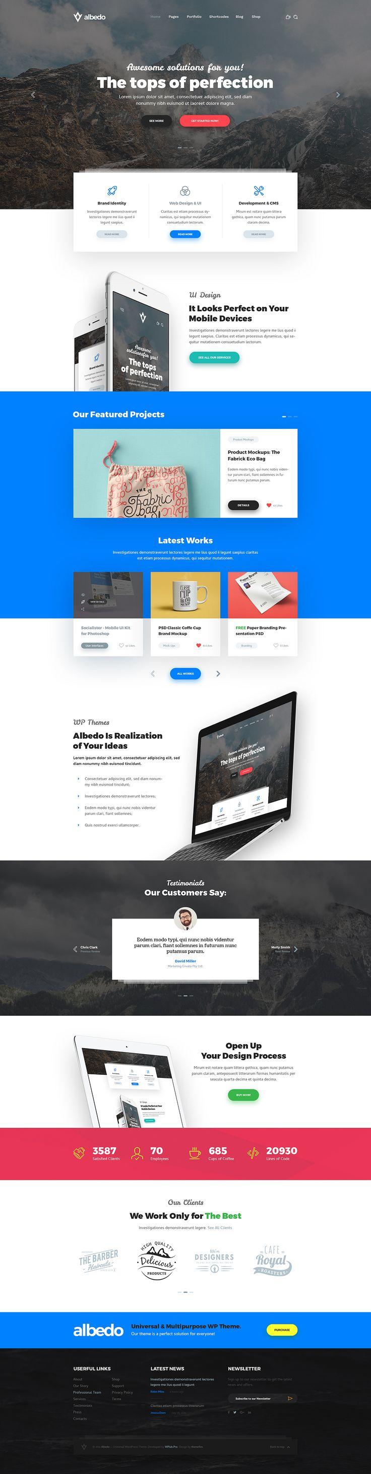 Albedo - Modern Design Studio PSD Template by themefire | ThemeForest