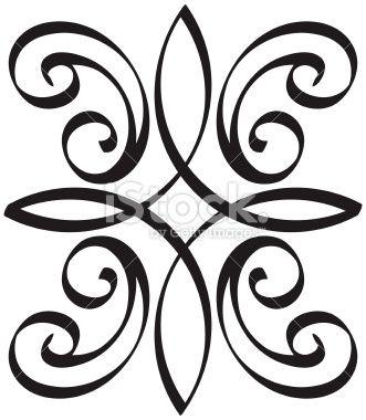 coin ornement motif floral art nouveau encadrement illustration vectorielle libre de droits. Black Bedroom Furniture Sets. Home Design Ideas