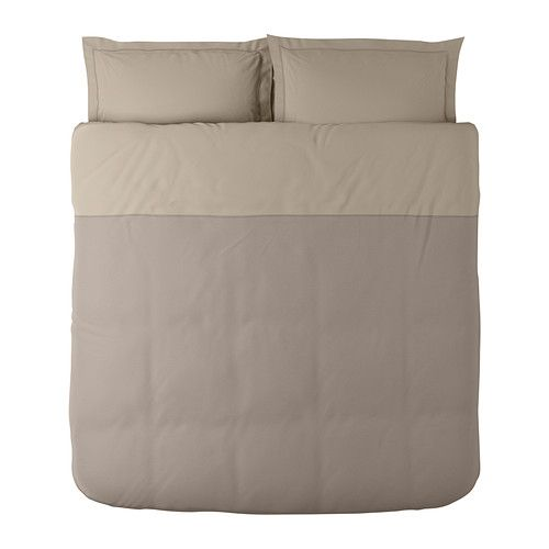 IKEA - MALOU, Copripiumino e 2 federe, 240x220/50x80 cm, , Tinto in filo: il filo viene tinto prima di essere tessuto, per una morbidezza ottimale.Biancheria da letto morbida e resistente, grazie alla tessitura fine a trama fitta. Puoi vestire a nuovo la tua camera da letto quando vuoi, poiché questo copripiumino ha colori diversi sui due lati.I bottoni automatici nascosti tengono fermo il piumino.