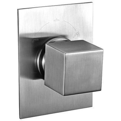 Alfi Brand Square 3 Way Shower Diverter Finish: Brushed Nickel