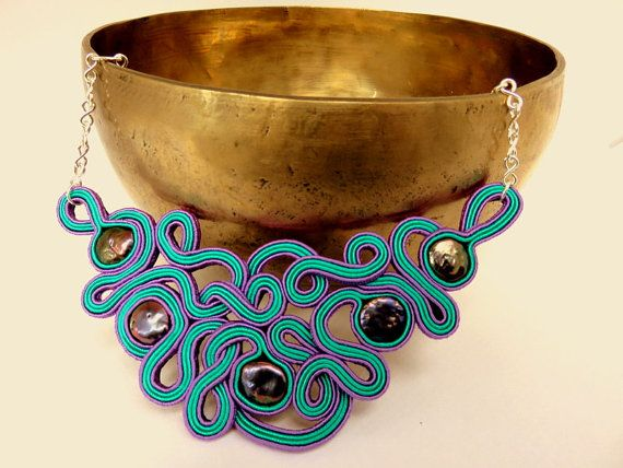 Hey, I found this really awesome Etsy listing at https://www.etsy.com/listing/227269651/collana-soutaches-verde-acqua-marina-e