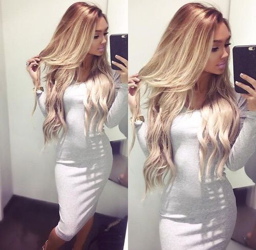 Image via We Heart It #blonde #brunette #girl #hair #sweet #ombre