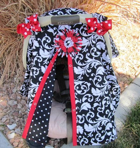Baby Carseat Canopy Free Shipping Code Today By SooShabbyChic 3899