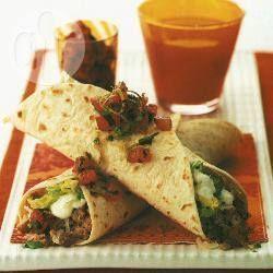 Burrito's met gebakken bonen @ allrecipes.nl