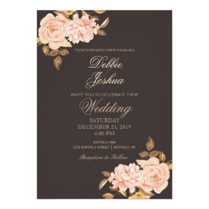 elegant cream rose bouquet wedding invitation wedding invitations rh in pinterest com