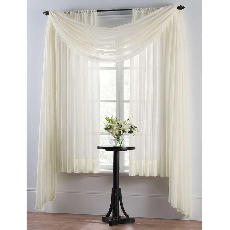 Curtain Ideas With Voile: Smart Sheer™ Insulating Voile Window Curtain Panel
