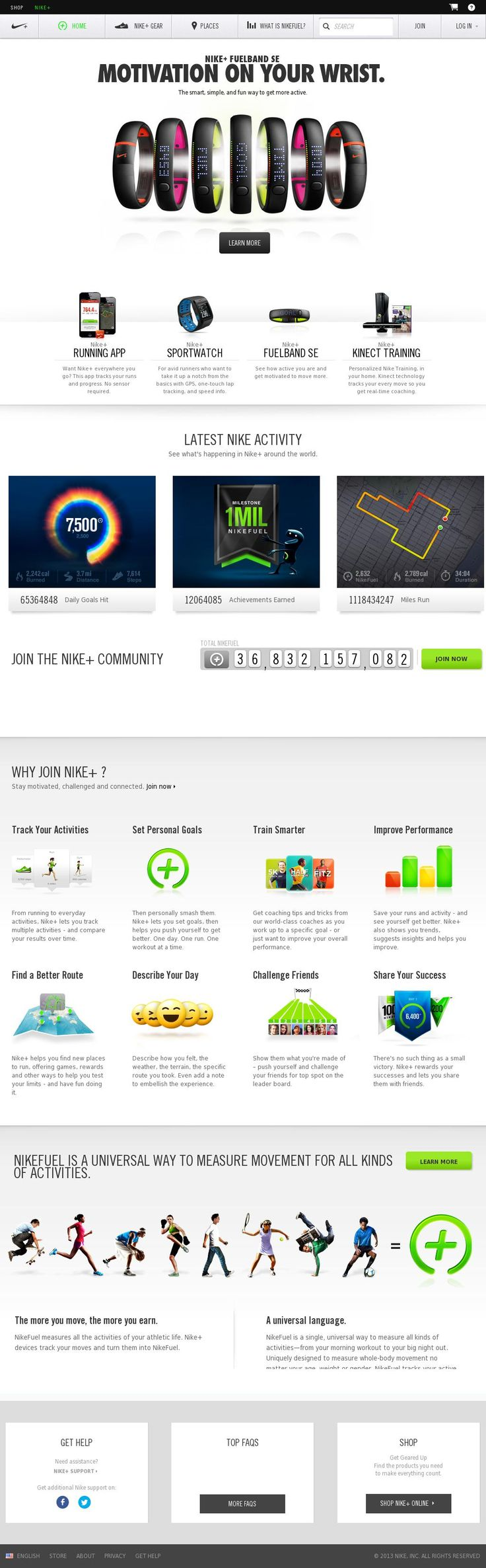 Juan: I like all of the features and options that is made available. Very interactive.  nike plus web