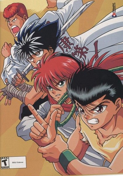 Tags: Anime, Yu Yu Hakusho, Urameshi Yuusuke, Kurama, Hiei