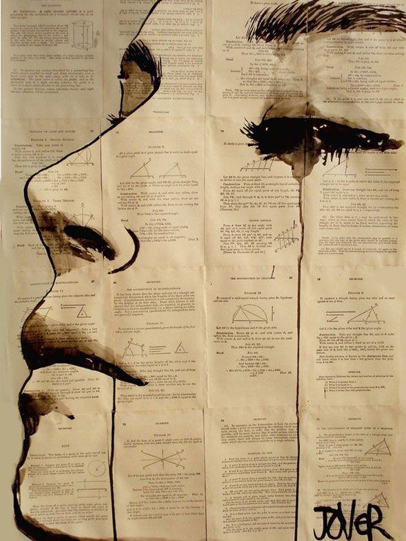 Tantôt rêveur et parfois poète, souvent les deux,Loui Jover est un artiste un peu bohème qui a choisi comme support d'expression émotionnelle de vieux papiers de récupération…   Goutte d'art Installé dans le Queensland en Australie, cet illustrateur bien singulier qui n'a besoi