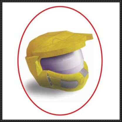 Halo - Master Chief Helmet Ver.2 Free Papercraft Download - http://www.papercraftsquare.com/halo-master-chief-helmet-ver-2-free-papercraft-download.html