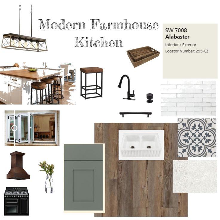 Modern Farmhouse Kitchen Interior Design Mood Board by ...
