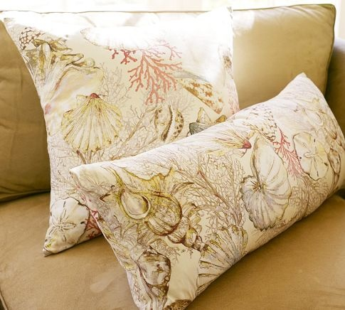 scattered shell pillow cover from potterybarn