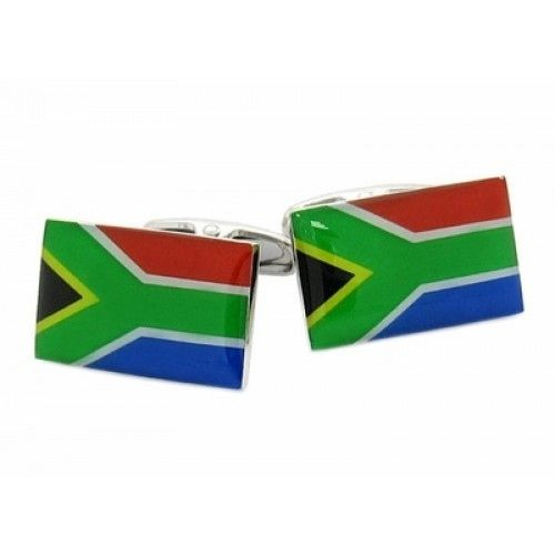 South Africa Flag Cufflinks, Men's