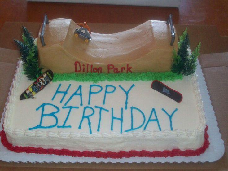 Skate Park Cake Food Cake Park Birthday Party Cakes