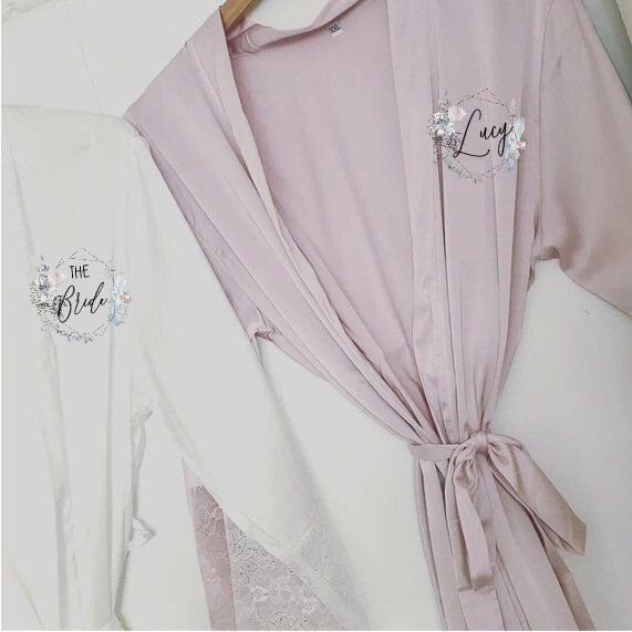 Wedding Dressing Gown Bridal Robes Satin Dressing Gown Blush Pink Robe Bride Robe Bridesma Satin Bridal Robe Bridesmaid Dressing Gowns Satin Dressing Gown