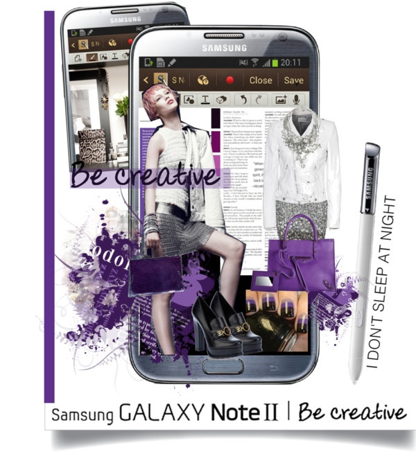 """""""Samsung Galazy Note II: I dont sleep at night"""" by hamaly ❤ liked on Polyvore"""