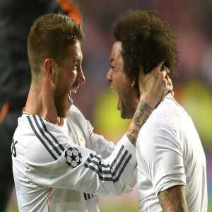 Today Ramos will play his 100th Champions League game and Marcelo will play his 400th Real Madrid game.
