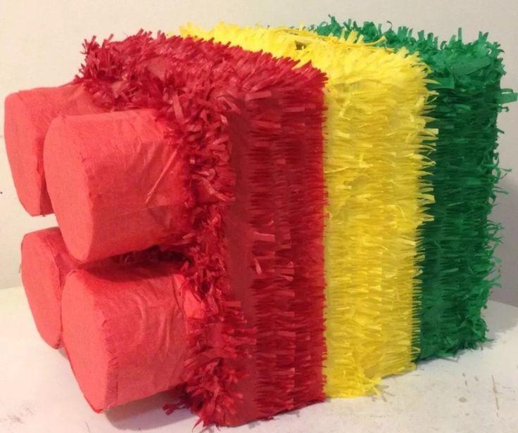 Lego-Birthday-Party-Tricolor-Block-Pinata