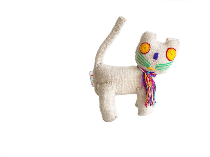White Cat - Woollen animal from Chiapas, Mexico