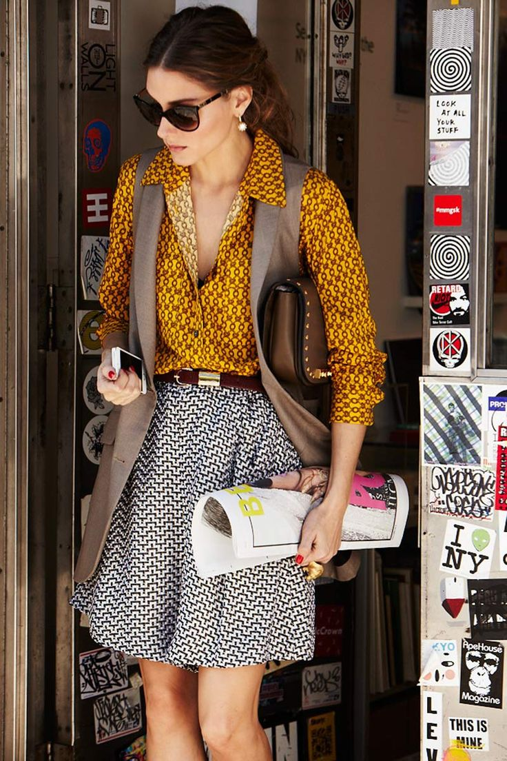 Mix of prints - Olivia Palermo