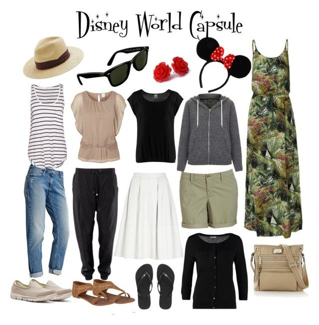 """Disney World Capsule Idea"" by mimmy-05 ❤ liked on Polyvore featuring River Island, Old Navy, Vero Moda, Skechers, Forever, Havaianas, Topshop, ONLY, Jacqueline De Yong and Tyler Rodan"