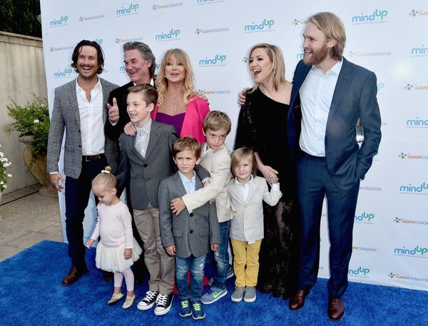 Wyatt Russell Photos Photos - (back row) Actors Oliver Hudson, Kurt Russell, Goldie Hawn, Kate Hudson and Wyatt Russell attend Goldie Hawn's Annual Goldie's Love In For Kids on May 06, 2016 in Beverly Hills, California. - Goldie Hawn Hosts Annual Goldie's Love In For Kids - Arrivals