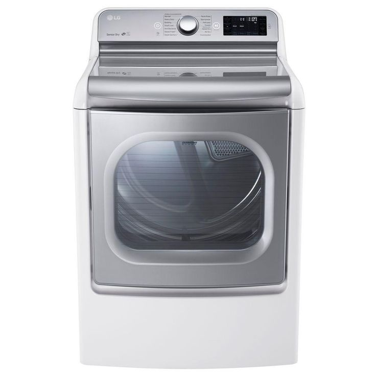electric dryer with easyload and steam in white