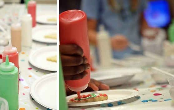 Load your icing into condiment bottles for an easy cookie decorating party.
