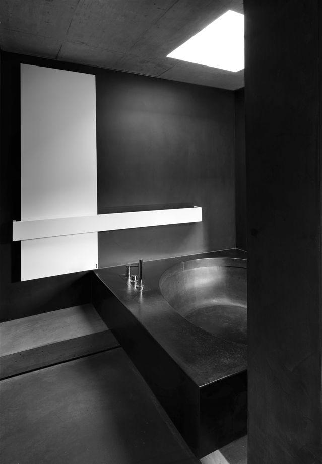 ... bathroom in dark color