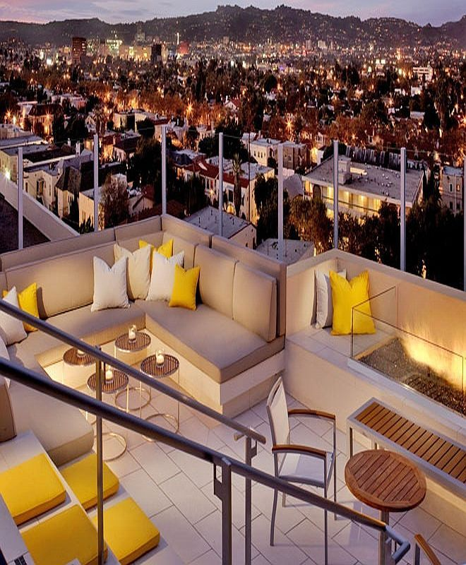 Hang out at the Roof on Wilshire atop The Hotel Wilshire, Los Angeles