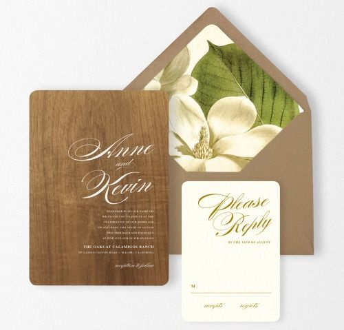 etsyfindoftheday:  etsyfindoftheday | CURATION REQUEST | 3.9.14  requested by: tkowal looking for: wedding save-the-date or invitation shop suggestionsfeatured: wood wedding invitations with gold letterpress reply cards by oakandorchid