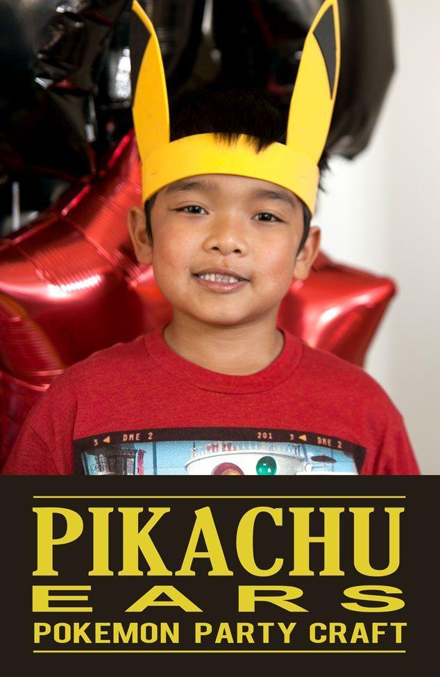 Pokemon party activity - Pikachu ears! Free printable templates.