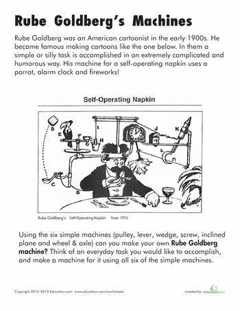 Worksheets: Rube Goldberg Machines