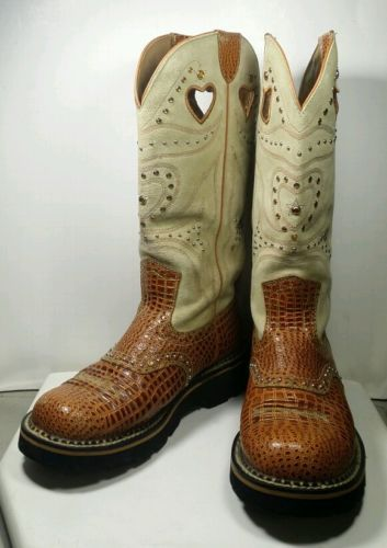 Retired Womens Ariat Gem Baby FatBaby Boots Stones Studs Gems ...