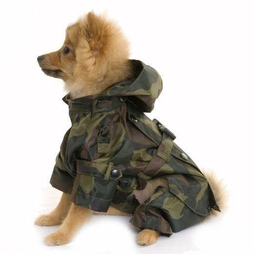 All In One Camouflage Dog Raincoat £24.99 #dograincoat #dogcoat