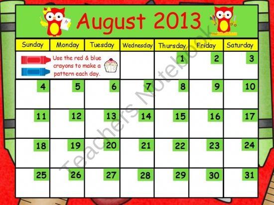 Kindergarten Calendar Powerpoint : Best images about activinspire on pinterest bingo