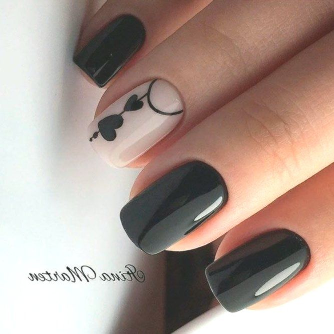 Black Nails With Pink Are you looking for lovely nail art designs that are excel…